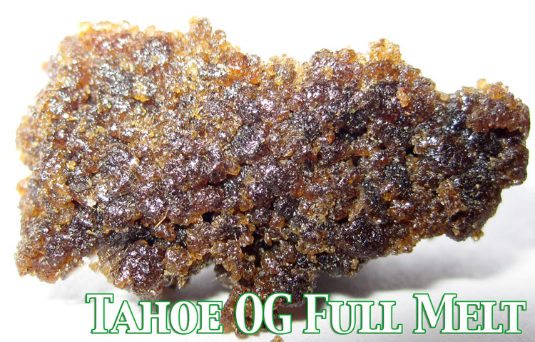 Tahoe OG Kush Full Melt Hash Medical Marijuana Concentarate